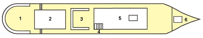 dekplan van het schip
